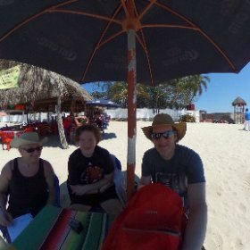 Just hangin around #Bucerias with Sharon Craig and Jaxon enjoying the #360 view #theta360