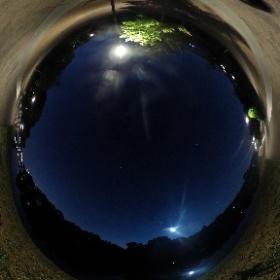 Mal wieder auf Mond-Jagd heute Nacht #theta360 #theta360de