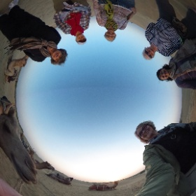 The group and their camels at sunset - Jaisalmer - India - Feb 20
