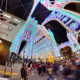 第23回 神戸ルミナリエ 点灯直後 2018 Kobe Luminarie  - Guardando al futuro #illumination #Luminarie #光の饗宴 #theta360