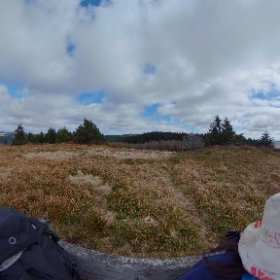 Viewpoint on red walk from The Arch near Devils Bridge in the Cambrian Mountains, Wales.  #theta360 #theta360uk
