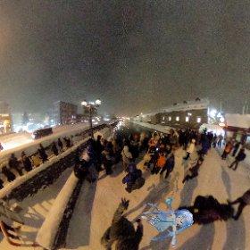 小樽運河!激さむい!! #雪ミク #miku360