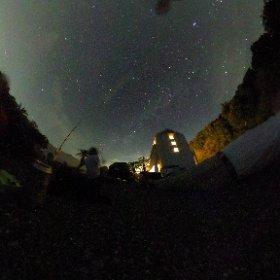 Shetaの星空撮影すごい! スマフォじゃ全く映らなかったのにすごい星空 #theta360
