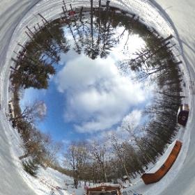 The Sweeney Ice Rink in North Tonawanda, NY ready for action on a beautiful Sunday afternoon! #theta360