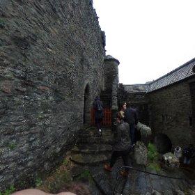 Getting ready to enter Eilean Donan Castle #theta360