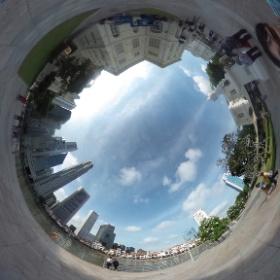 シンガポール一 #theta360