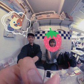 たまたま中目黒で打ち合わせしてたら、たまたまいつものメンバーがピザ屋🍕にいた。 #sakura3d  #朝渋 #朝渋オフ会 #仕事です #theta360