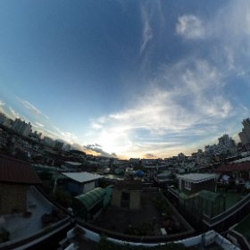 옥상 하늘 #theta360