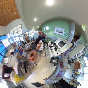 Donating plasma! Click and look anywhere! Maybe don't look if needles & blood freaks you out. #theta360