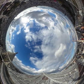 On top of the Notre Dame Cathedral Paris #theta360