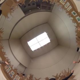 名取市文化会館で開催中の「Red Knit Cap Girl の世界」展、本江研で会場構成を行いました。3〜5日は絵本の読み聞かせもありますのでぜひご来場ください。 #theta360