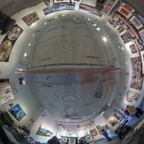 Panorama of the interior of Image City Photography Gallery. #theta360