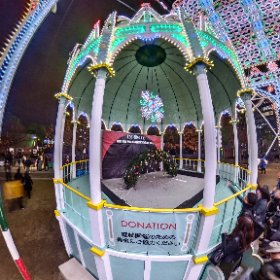2018 Kobe Luminarie 100JPY Donation 募金 Guardando al futuro #illumination #Luminarie #光の饗宴 #theta360