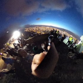 View from Bogota at night from the hilltop church, Monserrate.  #theta360
