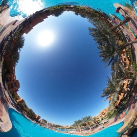 Pool area at Caribbean World Resort Soma Bay #thisisegypt #theta360