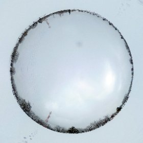 おとといの雪降った後のグランド、誰もいない内にあたり一面の雪景色を独り占め。 #theta360