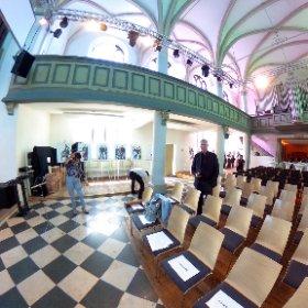 Vernissage René Golz für Diakonie Ruhr-Hellweg in der Jugendkirche im Lutherviertel in Hamm/Westf. #theta360