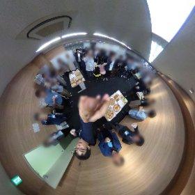 #でらマーケ勉強会 ありがとうございました! 360度写真のTHETAですー! (参加者プライバシーのためこちらではmosaic入れておきますね) #sakura3d #theta360