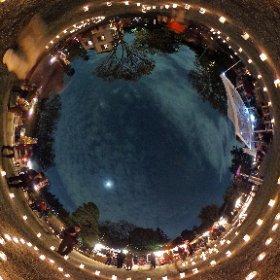 360.kudo.gr.jp #Koganei #Tokyo #Japan #RICHOH #THETA #360 #Panorama #江戸東京たてもの園 夜間特別開園 紅葉とたてもののライトアップ  #ライトアップ #キャンドル #ロウソク #小金井市 #小金井 #月 #月光  #illumination #night #Tokyo #Japan #moon #moonlight 2015/11/21 #theta360  #theta360