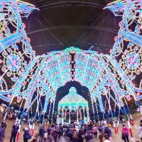 第23回 神戸ルミナリエ 「未来への眼差し」 2018 Kobe Luminarie #illumination #Luminarie #光の饗宴 #snow3d #theta360