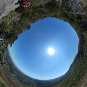 #船上山 に #登山 結構楽勝と思いきやすごいルートがたくさんです! 崖の上のポニョですねw #theta360