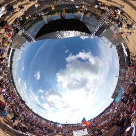 MILION CHVILEK PRO DEMOKRACII, DEMONSTRACE NA LETNÉ 23.6.2019. Hovoří Mikuláš Minář. Foto: Petr Šálek