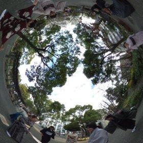 侍クラブプレゼンツ ~書初めと羽子板遊び〜 その2 #theta360