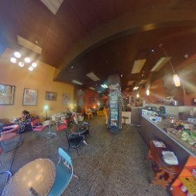 Coffy Cafe Delicious coffee smoothies beer and wine a favorite of crepes  3310 14th St NW, Washington, District of Columbia 202-588-5660 #theta360