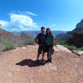 Turnaround point of our hike down the Grand Canyon.