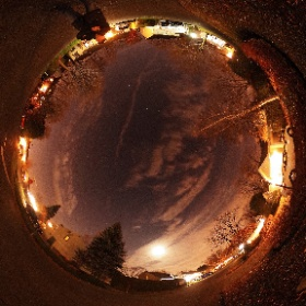 Super Lune / Super Moon 2016-11-14 Boisbriand, Québec, Canada #theta360 #theta360fr