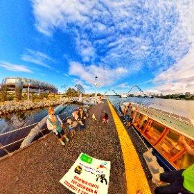 Burswood Jetty with little ferry co  Swan river Optus Stadium drop off,  100m North of the Matagarup bridge https://wabiz.family/BurswoodJetty BEST HASHTAGS  #BurswoodJetty  #BurswoodWA #VisitPerthWA   #butterfly3d #theta360