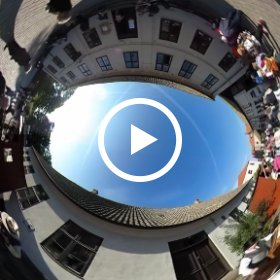 #butterfly3d Musicians on Mikaeli Market at Fredriksdal Helsingborg recorded with a THETA S   #theta360