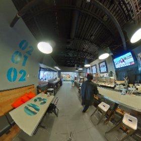 Vue 360 ° de Simple Sandwichrie à la Pyramide de Ste foy où aura lieu un dîner médias ce midi Merci à Jean Brouillard de Brouillard Communication pour l'invitation médias  #theta360