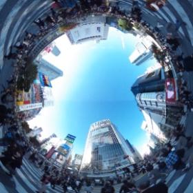 #渋谷 のど真ん中を歩くのは久し振りだな。#SHIBUYA #RICOH #THETA #theta360