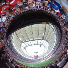 Nadeshiko Japan could not get the number one but the second during the FIFA 2015 Final in Vancouver. July 5th, 2015 #theta360