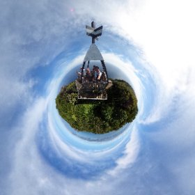 We made it! Summit of Kapiti Island! 360° photo - click and look anywhere! #theta360