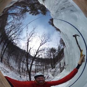 Ice Climbing Rumney Rocks