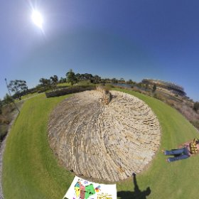 The Wandering is a 190m long artistic rock formation using 460 tonnes of stone in Optus Stadium Park,  SM hub https://linkfox.io/4EHCl BEST HASHTAGS  #TheWandering  #BurswoodWA #PerthCity  #VisitPerthWA   #Butterfly3d #theta360
