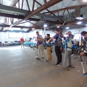 The 9am CD line of the 2018 ITAA Indoor State JOAD archery tournament. Feel free to share. #archery  #theta360