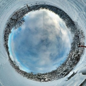 Winter at Mont-Saint-Bruno National Park  #theta360