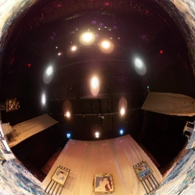 Impressionism at the Alumnae Theatre  April 2019 View from center stage Set Designer: Teodoro Dragonieri Associate Set Design: Sara Ahmadieh Assistant Set Design: Andrea Nesbitt Lighting Designer: Jay Hines Technical Assistant: Jarrod Dunlop