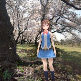 桜の下には…🐻 #sakura3d