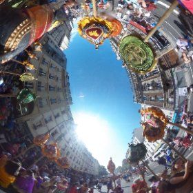 #paris #procession de #ganesh #theta360