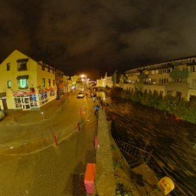 Summer Night at the Westend Canal | #GalwayFringeFestival #GIAF2019 #GalwaysWeatend #riverCorrib #Galway2020 #Galway360 #TheCraicinGalway #nightlifeingalway #thisisgalway #soniabruja #firefly3d #theta360 #theta360uk