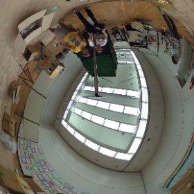 20150919セシオン杉並にてワークショップ ダンボールの家を つくって つなげて あそんで こわれたら なおしながら またあそぼう 開始前 #theta360