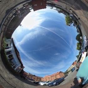 #chemtrails over Manchester  #theta360 #theta360uk