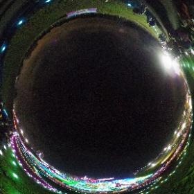 見晴台からはこんな見え方。 t-doitsumura.co.jp #アクアラインイースト #東京ドイツ村 #イルミネーション #theta360