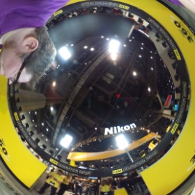 A 360 selfie of my 360 from the Nikon 360 project. #CES2015