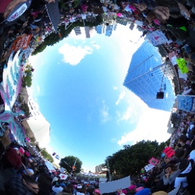 As far as the eye can see, in every direction the #WomensMarchLA was a virtual sea of humanity (literally). Exclusive #popup360newsroom coverage