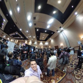 #ces2016 is underway! And it's crazy as always!  #theta360